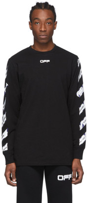 Off-White Black Airport Tape Long Sleeve T-Shirt