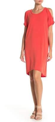 Papillon Cold Shoulder T-Shirt Dress