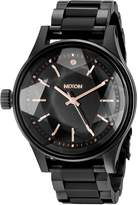 Nixon Women's A409957 Facet 38 Analog Display Japanese Quartz Black Watch