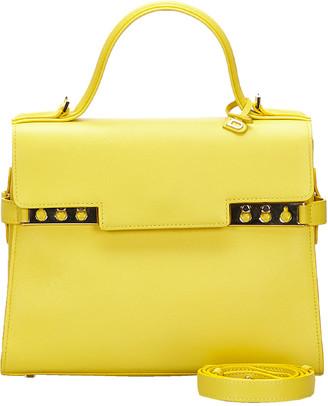 Delvaux Yellow Leather Tempete Medium Satchel