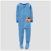 Just One You made by carter Toddler Boys' Racecar Footed Stripe Sleeper Pajama - Just One You Made by Carter's® Blue
