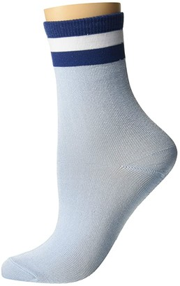 adidas Shine Single Crew Sock (Clear Sky Blue/Night Marine Blue) Women's Crew Cut Socks Shoes
