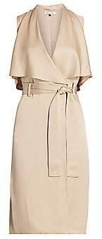 Halston Women's Sleeveless Satin Trench Dress