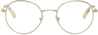 Chloé Gold Metal Round Glasses