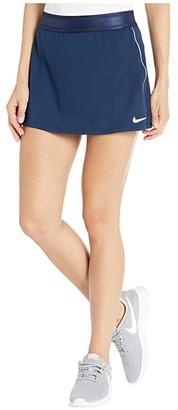 Nike Court Dry Skirt Stretch (Black/White/White) Women's Skirt