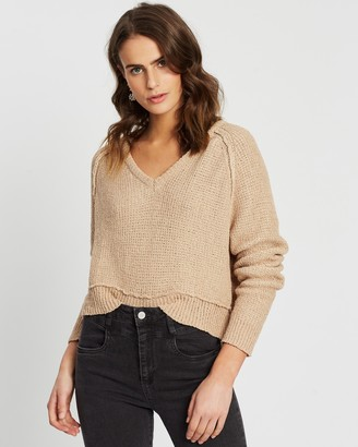Cotton On Sadie Slouchy Boucle V-Neck Jumper