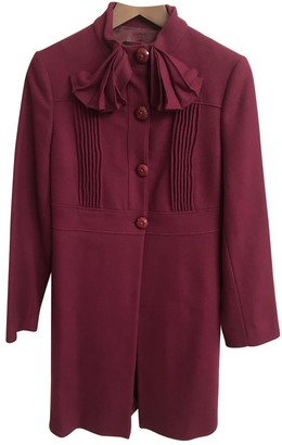 Moschino Love Burgundy Wool Coat for Women