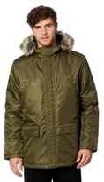 Ben Sherman Olive Military Four Pocket Parka