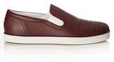 Bottega Veneta Intrecciato slip-on leather trainers
