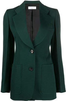 Victoria Beckham Single-Breasted Tailored Blazer