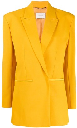Dorothee Schumacher Boxy Fit Structured Shoulder Blazer