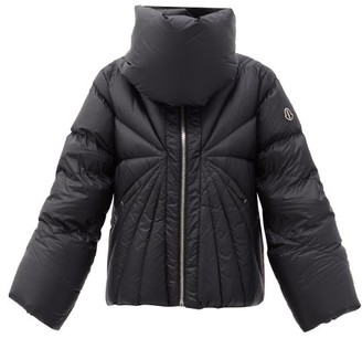 Moncler + Rick Owens Tonopah Padded-collar Spiral-quilted Down Jacket - Black