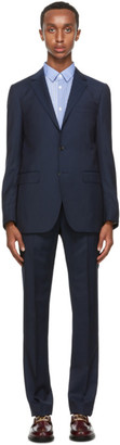 Lanvin Navy Wool Half-Canvas Suit