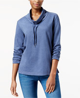 Karen Scott Drawstring Funnel-Neck Sweatshirt, Created for Macy's