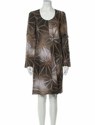 Marni Printed Knee-Length Dress w/ Tags Brown