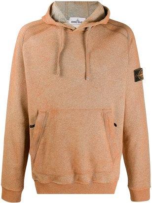 Stone Island Logo Patch Cotton Hoodie