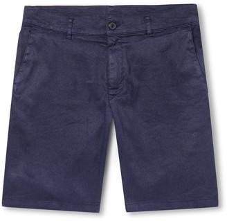 Altea Slim-Fit Stretch Slub Linen And Cotton-Blend Twill Shorts