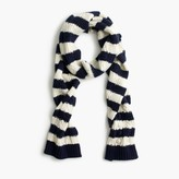 J.Crew Striped pom-pom scarf
