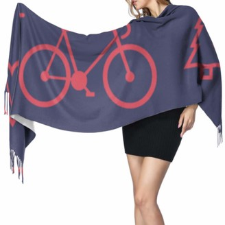 Yushg Excited Art Sports Competition Cycling Women Scarfs Womens Scarf Lightweight Scarf Cashmere 77x27inch/196x68cm Large Soft Pashmina Extra Warm