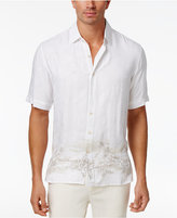 Tasso Elba Men's Textured Scenic Print Shirt, Only at Macy's
