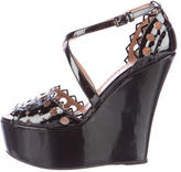 Alaia Lasercut Wedge Sandals