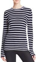Aqua Cashmere Stripe Cashmere Sweater