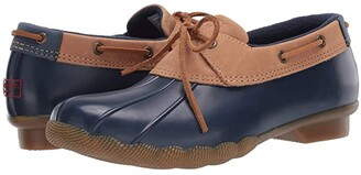 Sperry Saltwater 1-Eye Duck Boot (Tan/Navy) Women's Shoes