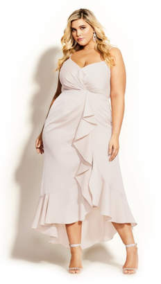 City Chic Passion Maxi Dress - gardenia