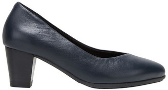 Hush Puppies The Point Navy Heeled Shoe