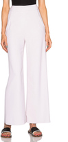 Sally Lapointe Viscose Stretch Wide Leg Trousers