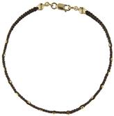 Catherine Michiels Faceted Bead Brown Rope Bracelet