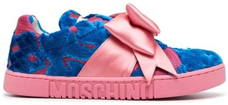 Moschino Patterned Bow Detail Sneakers