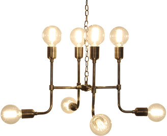 Culinary Concepts Matrix Pendant Light in Antique Brass Finish - Glass