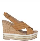 Hogan Slingback Wedge Sandals