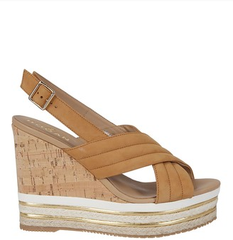 Hogan Slingback Wedge Sandals