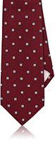 Fairfax Men's Square-Pattern Silk Necktie-RED