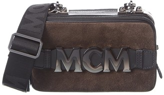 MCM Mini Cubism Suede & Leather Crossbody