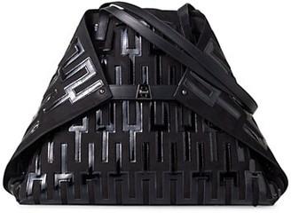Akris Medium AI Mosaique Applique Leather Tote