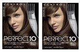 Clairol Perfect 10 By Nice 'N Easy Hair Color 006 Light Brown Chocolate Shake 1 Kit (Pack of 2)