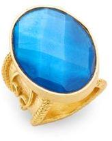 Stephanie Kantis Casablanca Faceted London Blue Crystal Ring