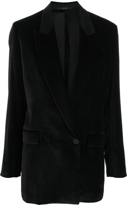 Paul Smith Velvet Double-Breasted Coat