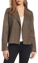 Tahari Women's Skylar Leather Moto Jacket