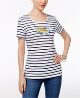 Karen Scott Sequined Striped Top, Created for Macy's