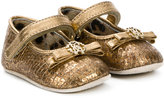 Roberto Cavalli front bow crib shoes