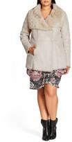 City Chic Plus Size Women's Faux Shearling Coat