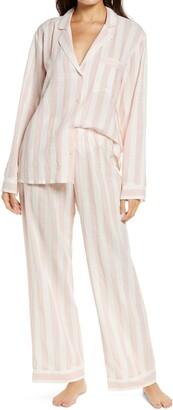 Eberjey Umbrella Stripe Long Pajamas