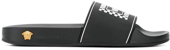 Versace logo pool slides