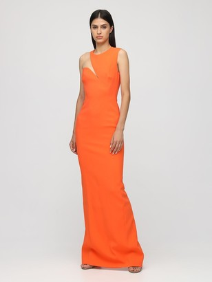 Stella McCartney One-shoulder Cady Long Dress