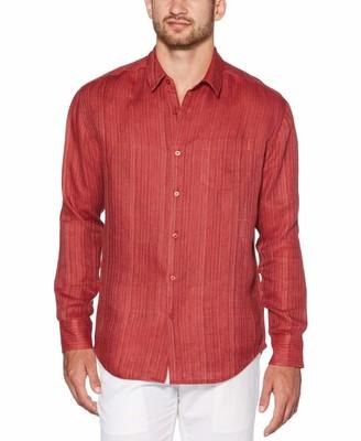 Cubavera 100% Linen Subtle Textured Shirt