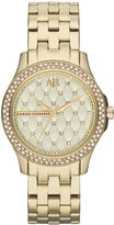 |A|X Armani Exchange Watch, Women's Gold Ion-Plated Stainless Steel Bracelet 36mm AX5216
